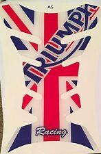 Protector de la etiqueta engomada de la Almohadilla De Tanque De Motocicleta | (Triumph) Inglaterra Union Jack Bandera Racing