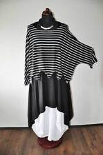 Layered Look The Wave Big Tunic Sweater Small Stripes 44,46, 48,50, 52, XL, XXL,