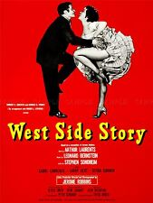 ADVERT THEATRE STAGE PLAY WEST SIDE STORY BERNSTE SONDHEIM BROADWAY PRINT LV1224