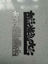 Sizzix Die Cutter  Embossed Flowers Border  Thinlits fits Big Shot Cuttlebug