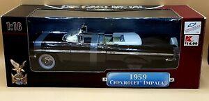 1959 CHEVROLET IMPALA CONVERTIBLE BLACK 1/18 ROAD SIGNATURE YAT MING (SEALED)