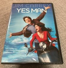 YES MAN DVD Jim Carrey, Zooey Deschanel WIDE & FULL BRAND NEW FACTORY SEALED