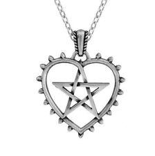 Alchemy ASTUZIA Pentagramma Ciondolo Cuore, Amore Attrazione, STREGA + scatola regalo gratuito