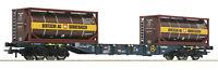 Roco H0 76737 Containertragwagen CEMAT mit Bertschi Tankcontainern - NEU + OVP