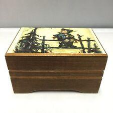 Vintage Reuge Switzerland Sainte Croix Wood Music Box Plays Lara'S Theme