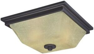 Westinghouse 6340800 - Ewing Two-Light Indoor Flush Ceiling Fixture