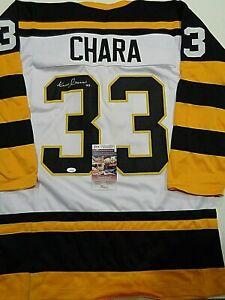 Zdeno Chara Boston Bruins Autographed Signed White Style Jersey XL coa-JSA