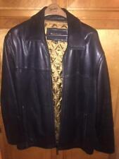 Leather Bomber Jacket - Size Large