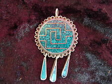 fine Necklace Pendant__925 Silver__with Turquoise