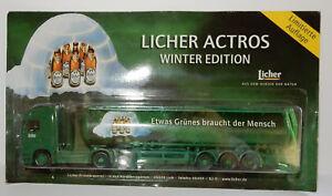 HÜMMER GRELL HO 1/87 CAMION CITERNE TRUCK TANKER MB ACTROS LICHER BEER BIERE BOX