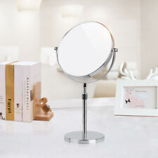 Height Adjustable Table Vanity Desk Makeup Mirror Standing 3X Magnifying Chrome