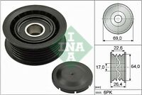 INA V-Ribbed Belt Deflection Guide Pulley 532 0160 10 532016010 - 5 YR WARRANTY
