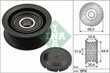 INA V-Ribbed Belt Deflection Guide Pulley 532 0160 10 532016010 - 5 YR WARRANTY
