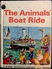 THE ANIMALS BOAT RIDE ~ Vintage Children's Junior Elf Book