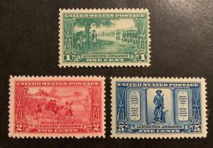 TDStamps: US Stamps Scott#617-619 (3) Mint NH OG