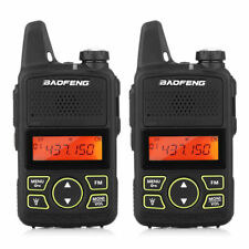 2X BAOFENG BF-T1 Mini 2-Way Radio Walkie Talkie UHF 400-470MHz Wireless Handheld