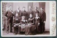 Large Family Photograph - antique Cabinet Photo - Forest City Iowa Photographer