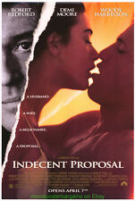 INDECENT PROPOSAL MOVIE POSTER 27x40 DEMI MOORE WOODY HARRELSON ROBERT REDFORD