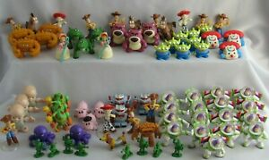 Disney Pixar TOY STORY Mini Figures Lot of 79 Pieces Woody Bo Peep & Much More!