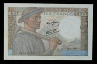 1943 France 10 Francs World Foreign Banknote Currency P# 99b High Grade  #145