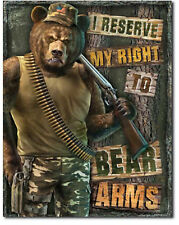 Right to bear arms Metal tin sign gun support home garage Wall decor new