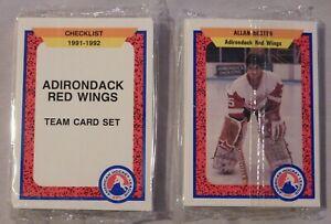 1991-92 Pro Cards 25-card AHL Adirondack Red Wings Hockey Team Set