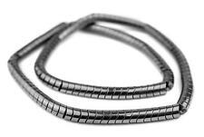 Charcoal Interlocking Hematite Snake Beads 8mm Grey Unusual Gemstone