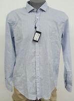 Hugo Boss Black Label Slim Fit White Geometric Men's L/S Shirt NWT $125 XL XXL