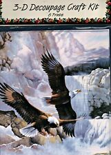 FLYING EAGLES 3D Decoupage Craft Kit size 8x10 New, Unopened