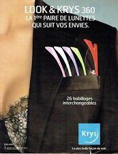 Publicité Advertising  0817  2006  les opticiens Krys habillage lunettes