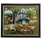 H. Hargrove Antique Yard Sale Limited Edition 87/750 Signed Framed Art Painting