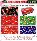 50 Pcs ADULT Patterns Holiday Face Masks in Assorted Festive Shield Patterns