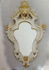 Miroir mural baroque ovale BLANC-OR de sale Bain Couloir 57x33 BBY cogsbivory