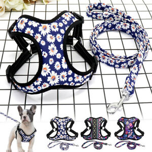 Nylon Dog Harness Leash Set Reflective Step in Dog Vest for Medium Large Dogs