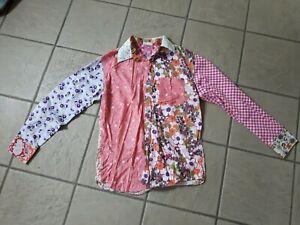 Shite Shirt Multicoloured Floral Joke Funny festival summer Shirt Mens Medium M