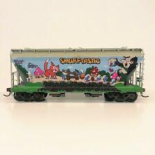 Custom Weathered & Smurf Graffiti Union Pacific HO Scale Athearn 2-Bay Hopper