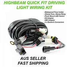 Quick Fit Highbeam LED Driving Light Wiring Loom Bar 12V 40A Switch Relay kit