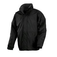 Regatta Dover Mens Fleece Lined Windproof Waterproof Hooded Jacket Black Medium