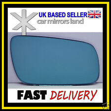 Right Driver Wing Car Mirror Glass Replacement Blue CONVEX VW GOLF 4 1994-2004