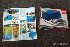 LEGO 741 ® System Eisenbahn Trafo 12V  mit Netzstecker mit OVP und Anleitung