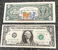 1974 Frderal Reserve Note $1.00 One Dollar/ 2 UNC In Consecuative Order DallasTX
