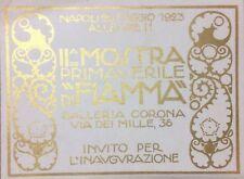 ARTE_NAPOLI_MOSTRA FIAMMA_GALLERIA CORONA_BIGLIETTO DI INVITO_LIBERTY_TERZI_1923