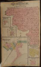 Illinois Schyler County Map Woodstock Township c.1915 Dbl Pg J16#65