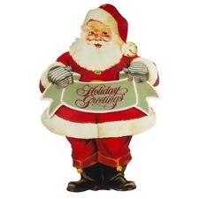 "Santa Claus Holiday Greetings large 30""  Wood Diecut Standup Display Christmas"