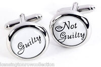 """MENS JEWELRY - """"WHAT'S THE VERDICT"""" CUFFLINKS - LEGAL & LAWYER CUFF LINKS"""