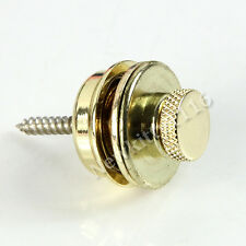 Flat Head Golden  Skidproof Round Strap Lock For Electric Acoustic Guitar Bass