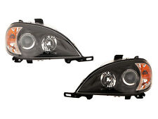 1998 1999 2000 2001 MERCEDES BENZ ML320 ML430 HALOGEN BLACK BEZEL Headlight PAIR