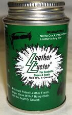 LEATHER LUSTER BLACK HI POLISH FOR BELTS SHOES USA MADE