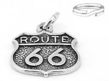"STERLING SILVER  925 'ROUTE 66"" CHARM with SPLIT RING"