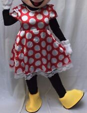 Minnie Mouse Adult Costume BODY Halloween Birthday Disney Red Dress Outfit Girls